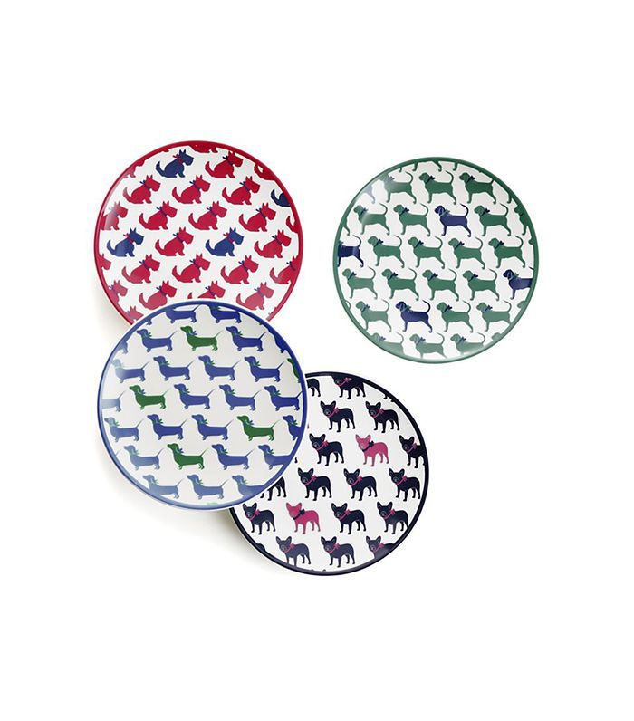 Dog Appetizer Plate, Set of 4
