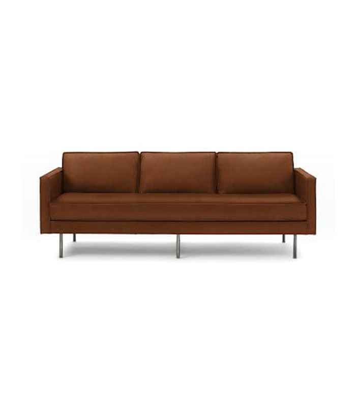 West Elm Axel Leather Sofa