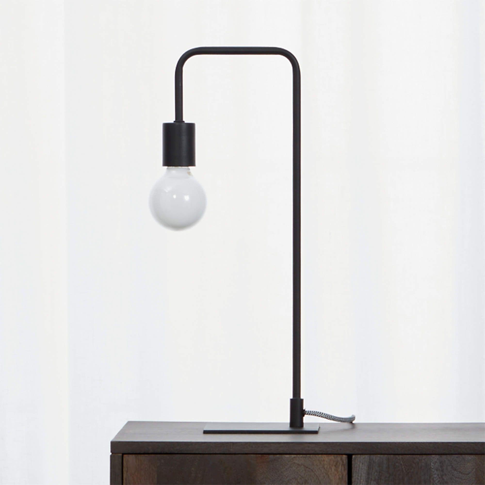 Minimal black table lamp
