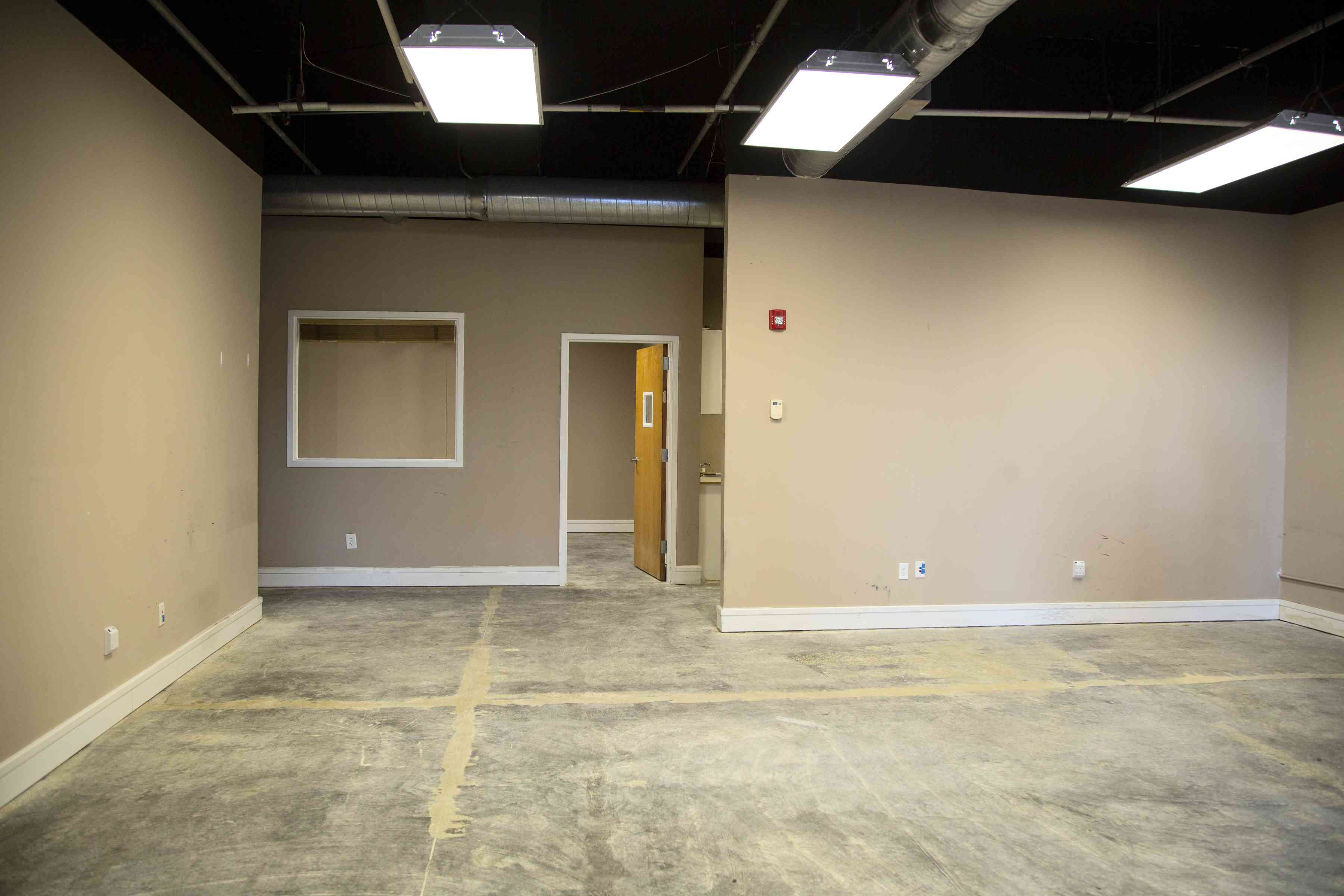 Empty office with blank walls.