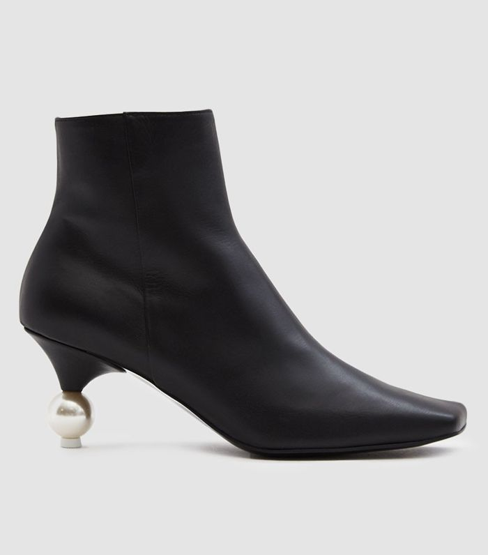 Pearl-Heel Ankle Boot