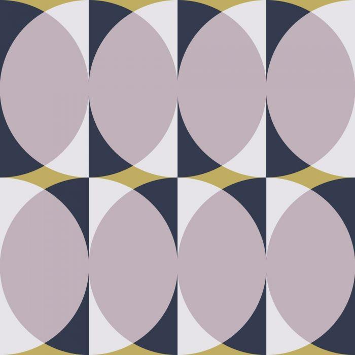 Circular wallpaper pattern