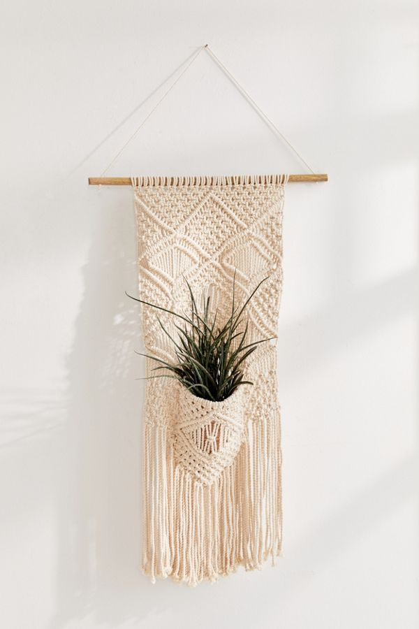 Urban Outfitters Macramé Planter Pocket Wall Hanging