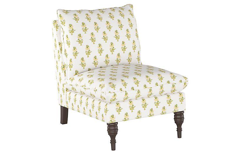 Desert Flower Slipper Chair