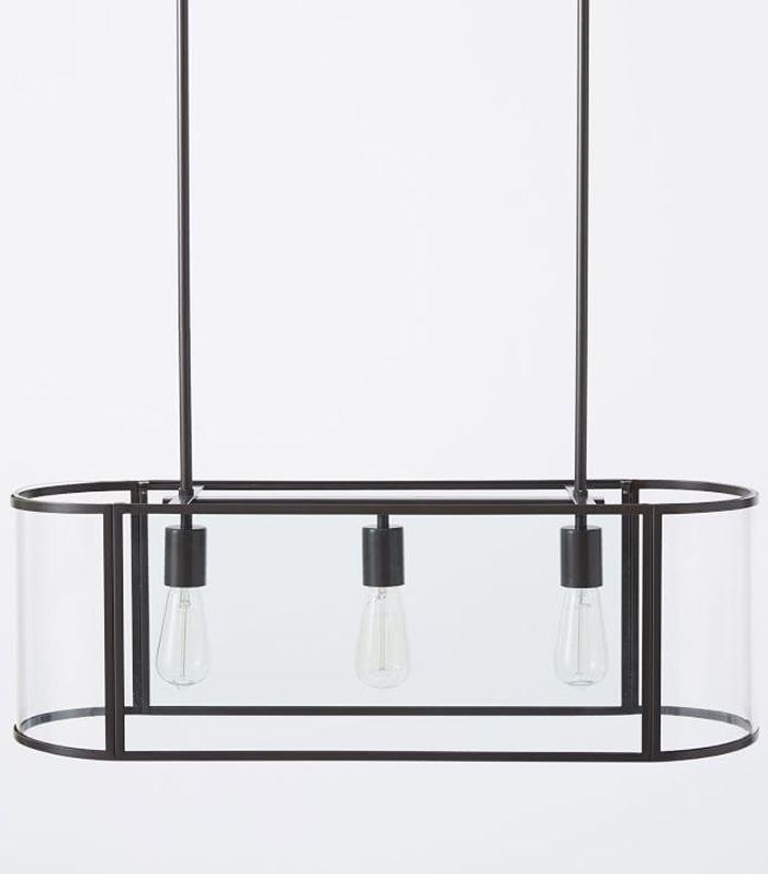 West Elm Glass Trough Pendant