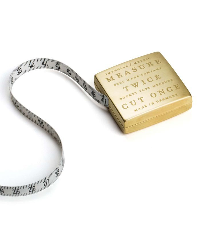 Best Made Co. Solid Brass Pocket Tape
