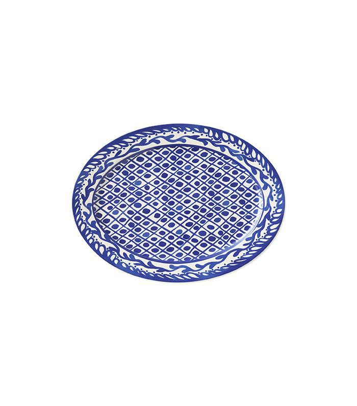 Aerin Lauder for Williams-Sonoma Sea Blue Geometric Platter