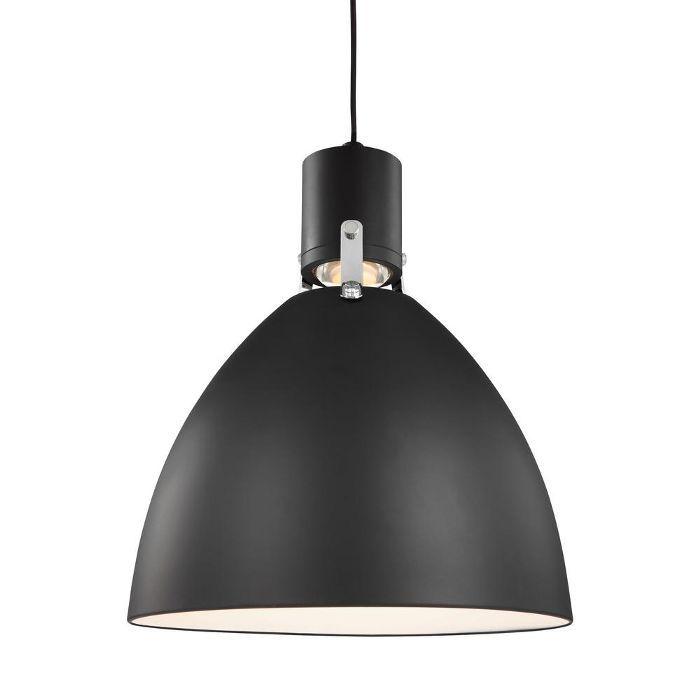 Feiss Brynne 1 Light Matte Black Pendant