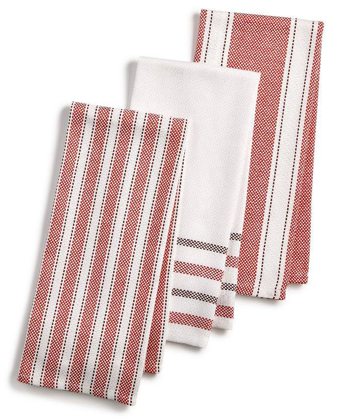 3-Pc. Basket Weave Kitchen Towels, Created for Macy's