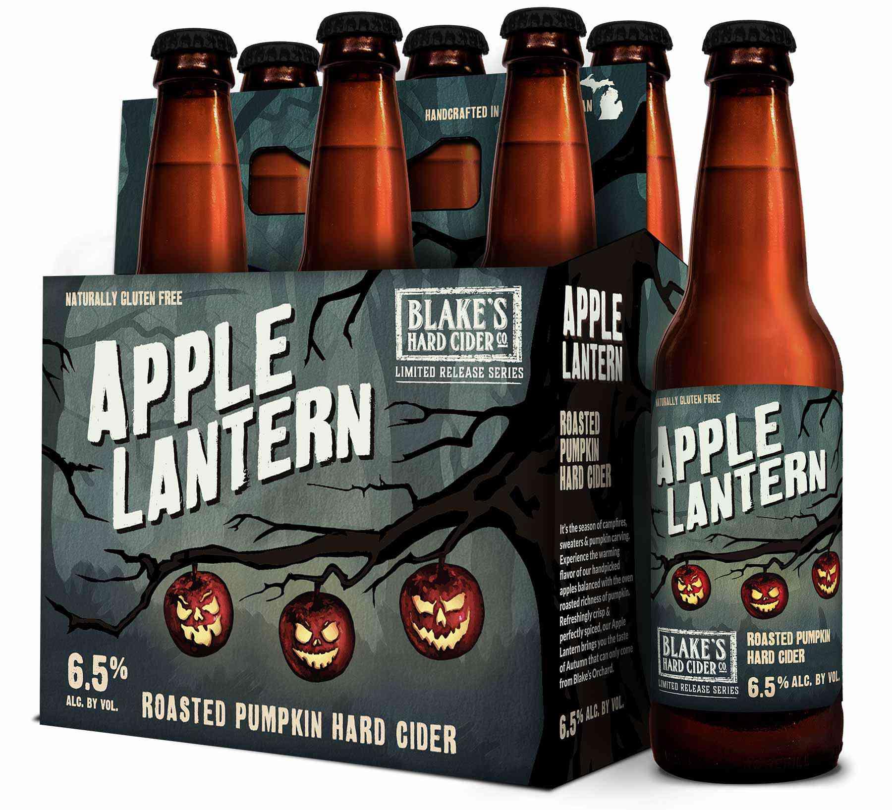 Six-pack of pumpkin cider