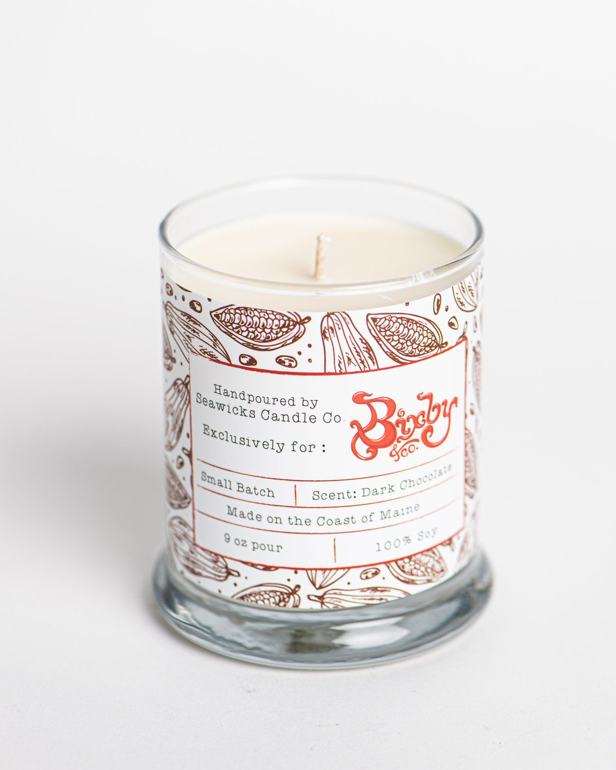 Bixby & Co. Dark Chocolate Scented Candle