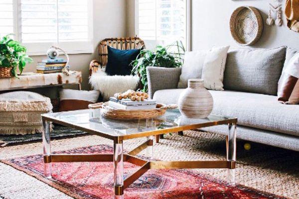 Globally-Inspired Boho-Chic living room