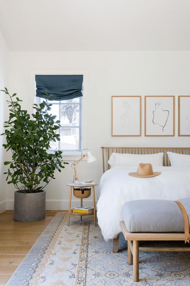 Serene neutral bedroom.
