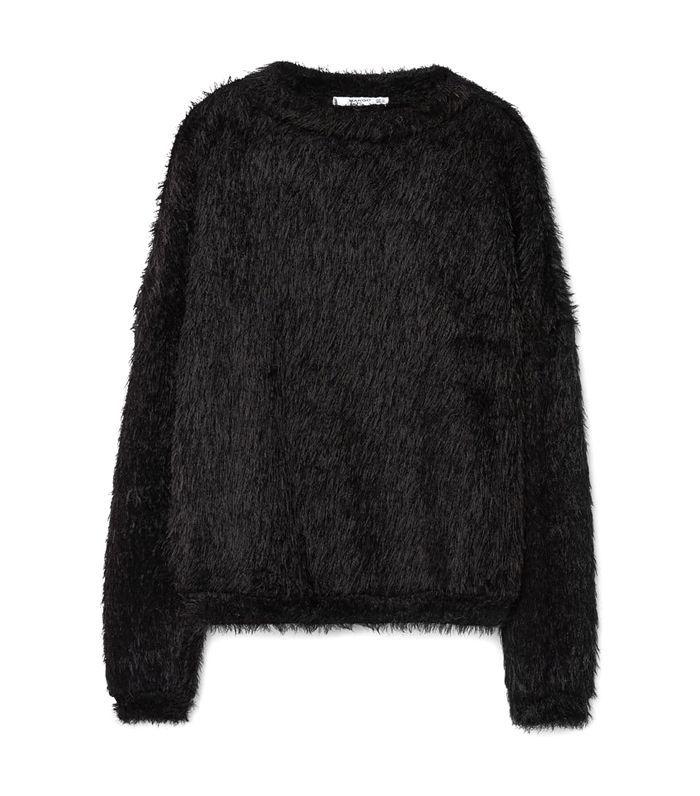 Textured mohair-blend sweater