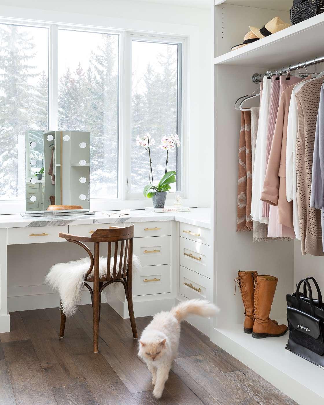 Closet with vanity station