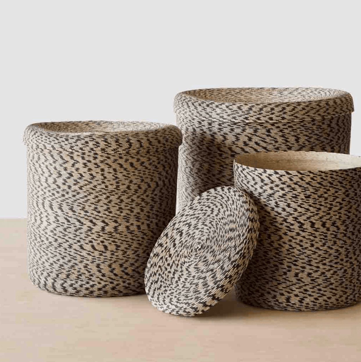 Several woven baskets, all of which are currently for sale at The Citizenry