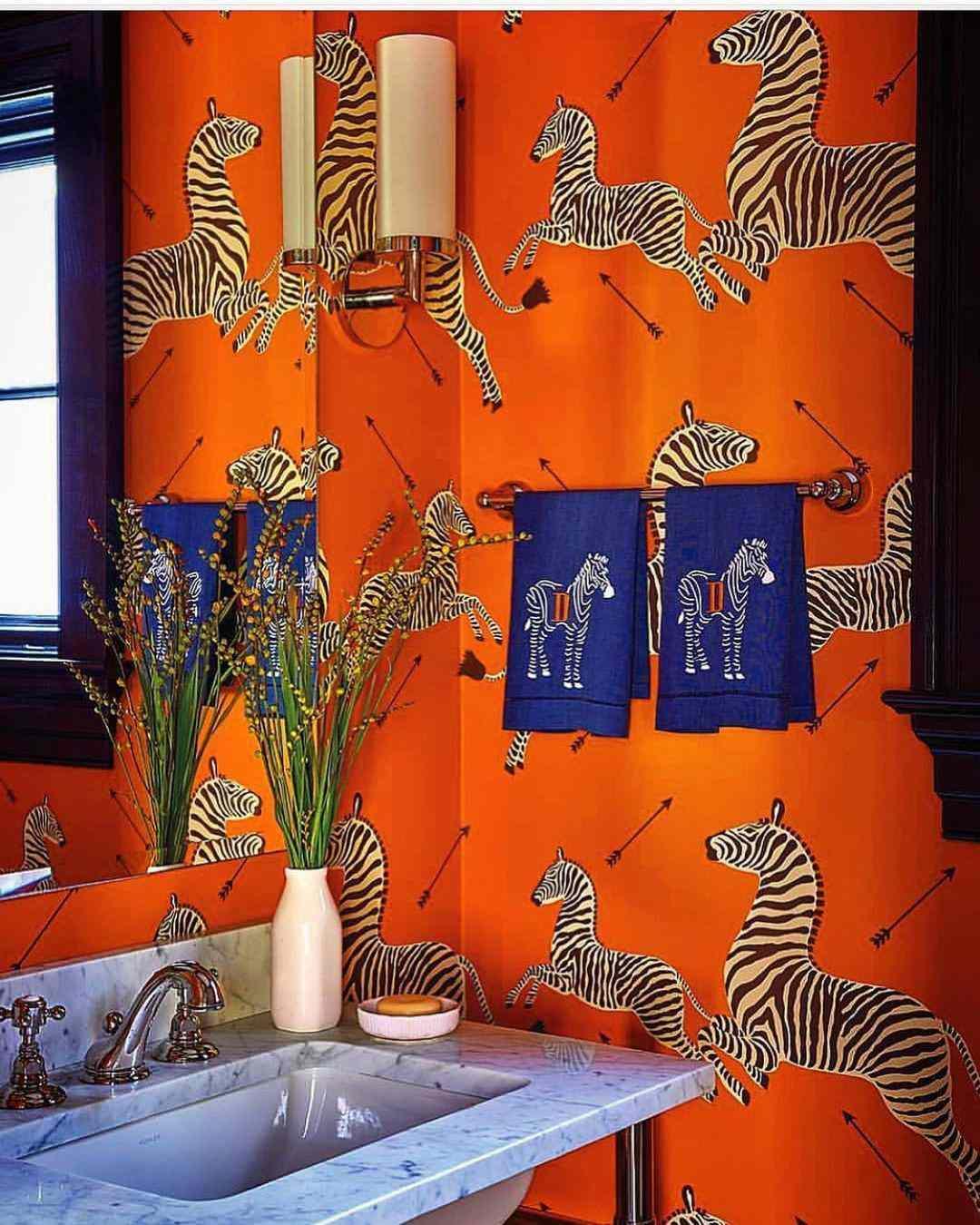 scalamandré zebra wallpaper
