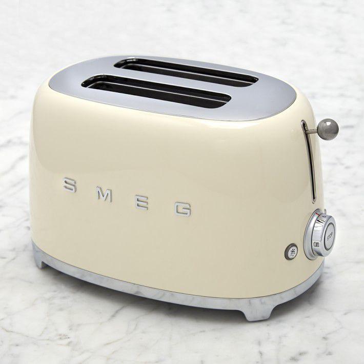cream, retro-style SMEG toaster
