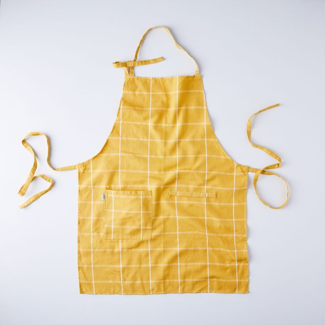 Modern Cotton Apron in Gold