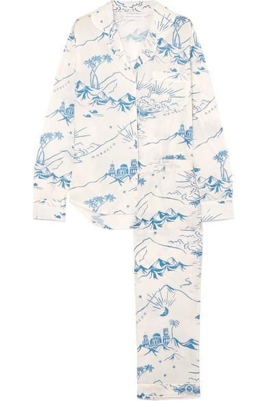 Printed Cotton Pajama Set