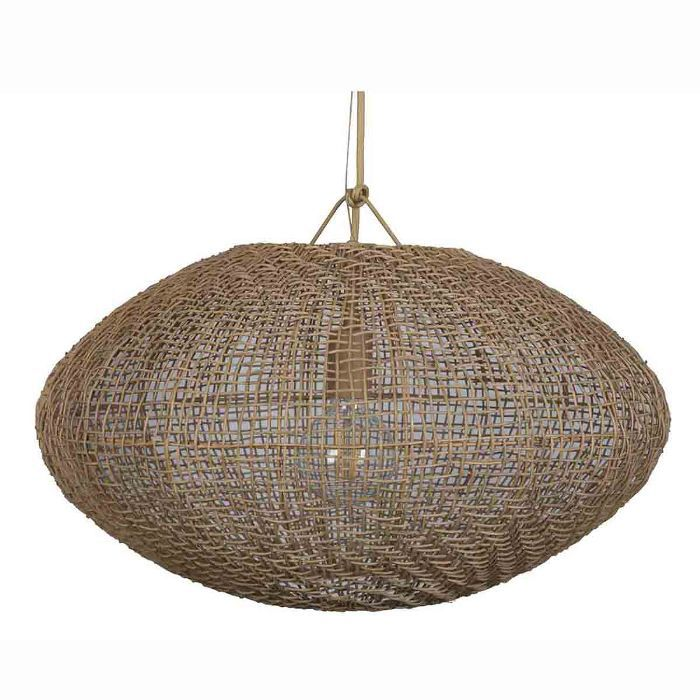 Project 62 and Leanne Ford Natural Woven Oblong Pendant Lamp (Includes Energy Efficient Light Bulb)