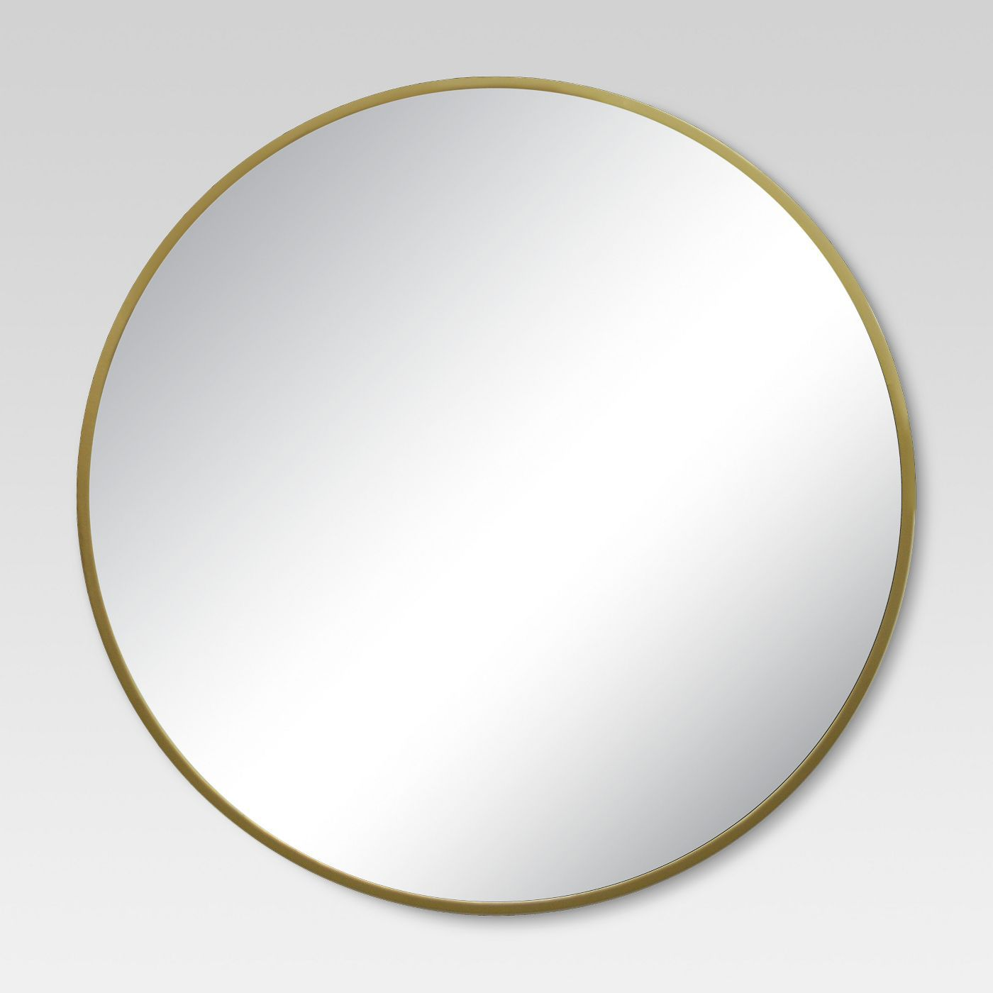 Round Decorative Wall Mirror Brass