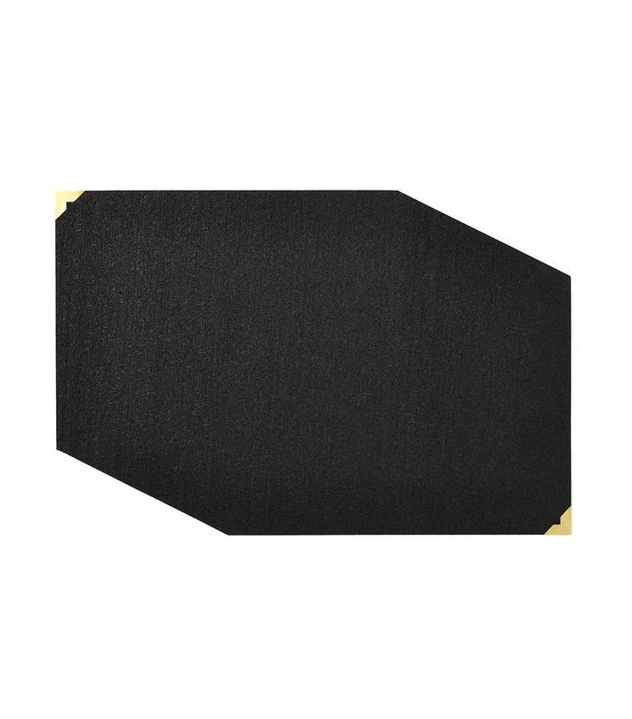 Slash Objects Black Rectangular Placemat