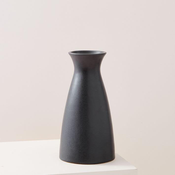 Black vase by West Elm