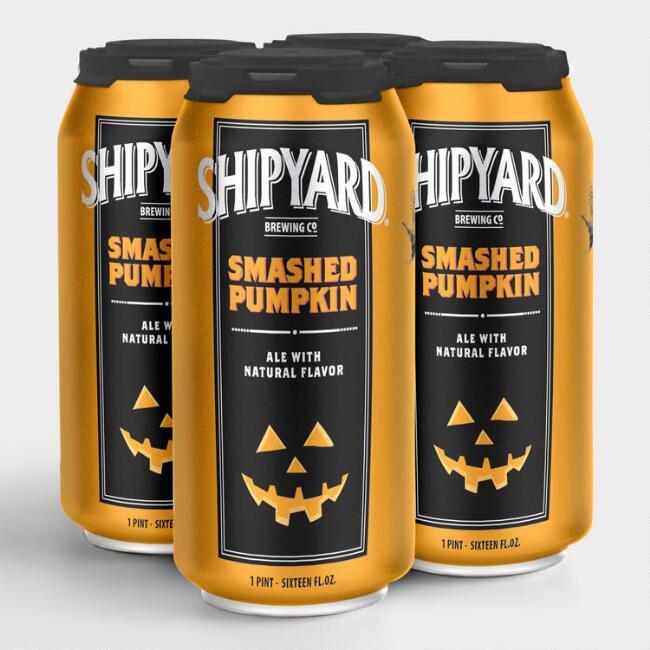 Can of pumpkin beer.