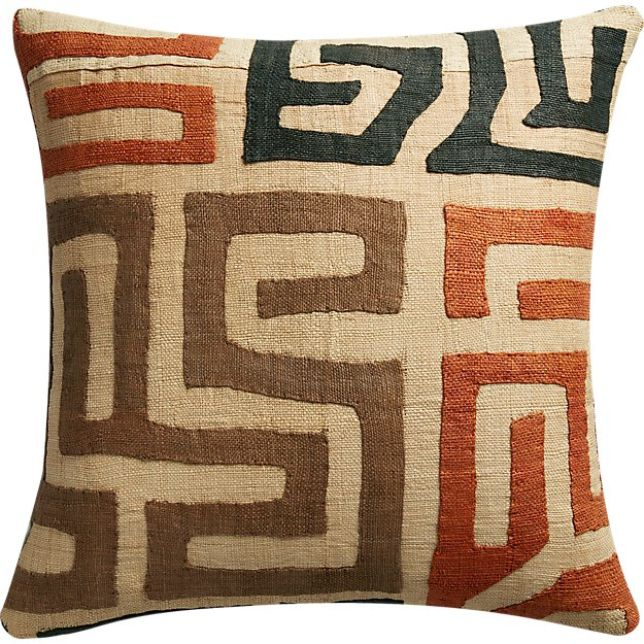 CB2 Kuba Cloth Pillow