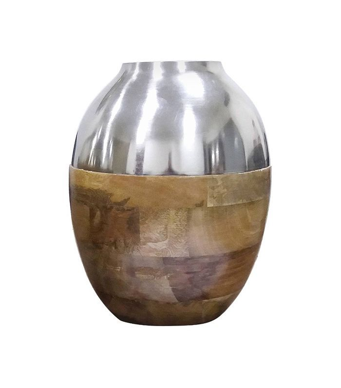 Target Silver and Wood Vase