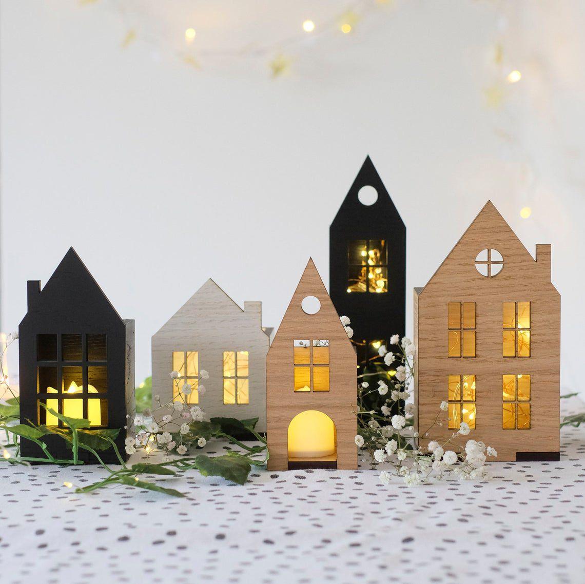 Christmas Scandi House Set Decoration