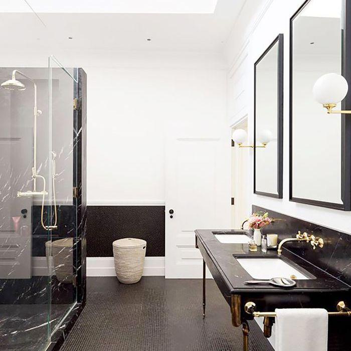 Best Bathroom Trends of the Year — Black Marble