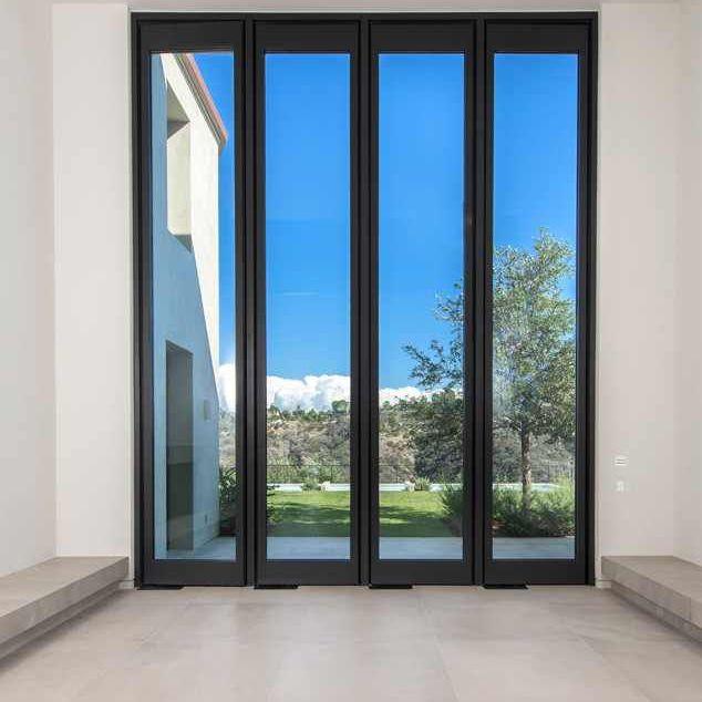 windows in Kim Kardashian and Kanye West's Bel Air estate