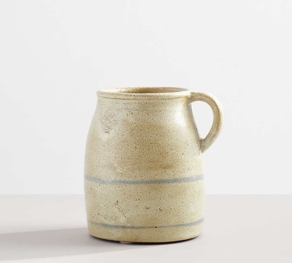 A rustic ceramic vase, currently for sale at Pottery Barn