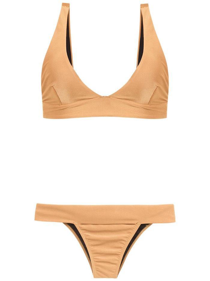 v-neck bikini set