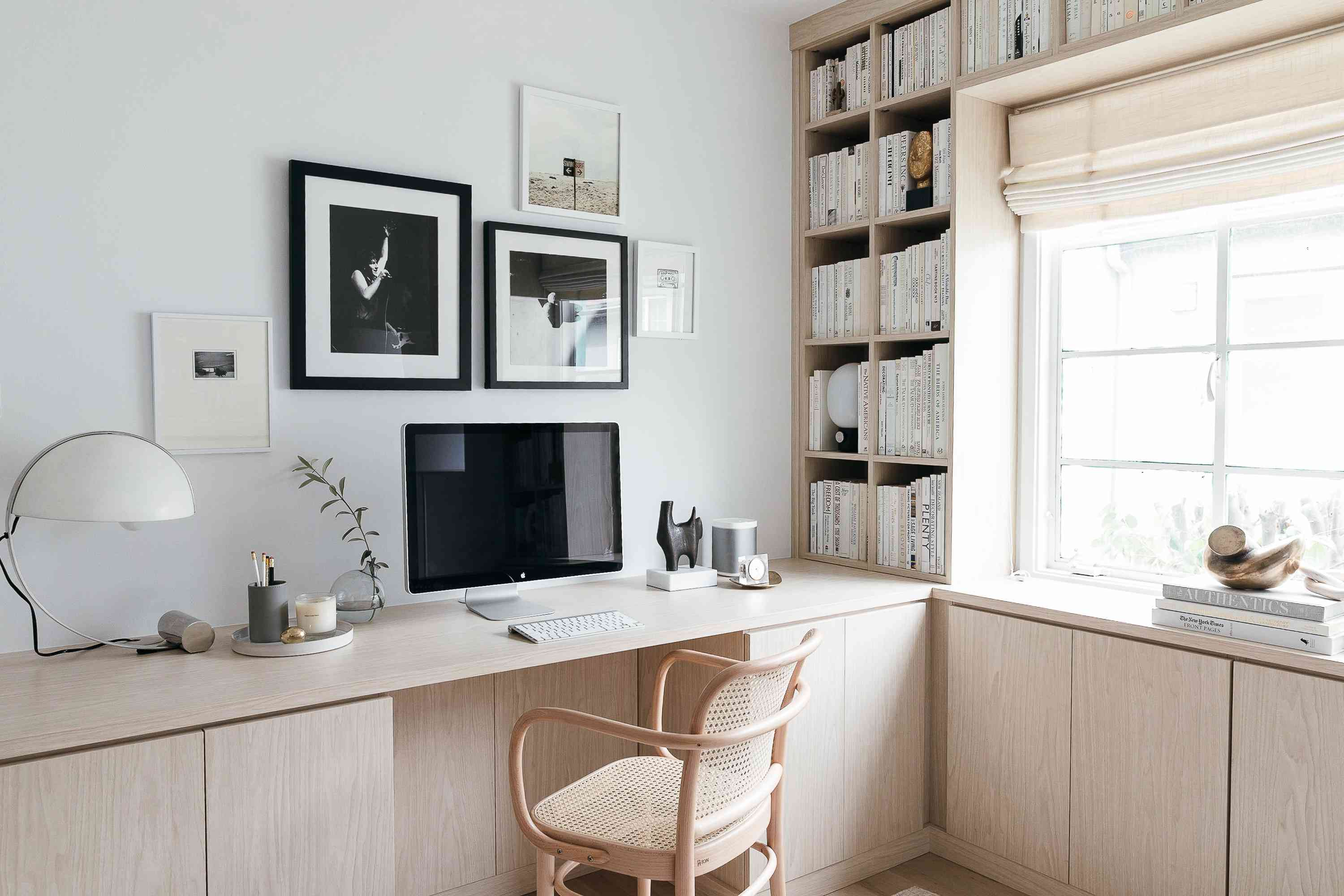first five things to buy for home office - minimal scandinavian home office