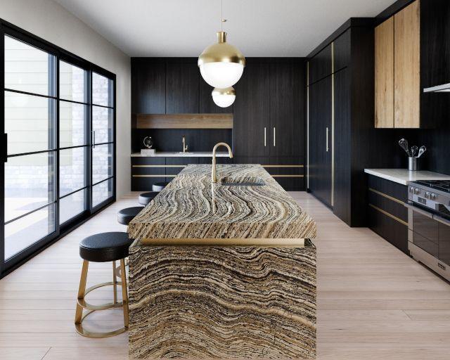 striated kitchen counter