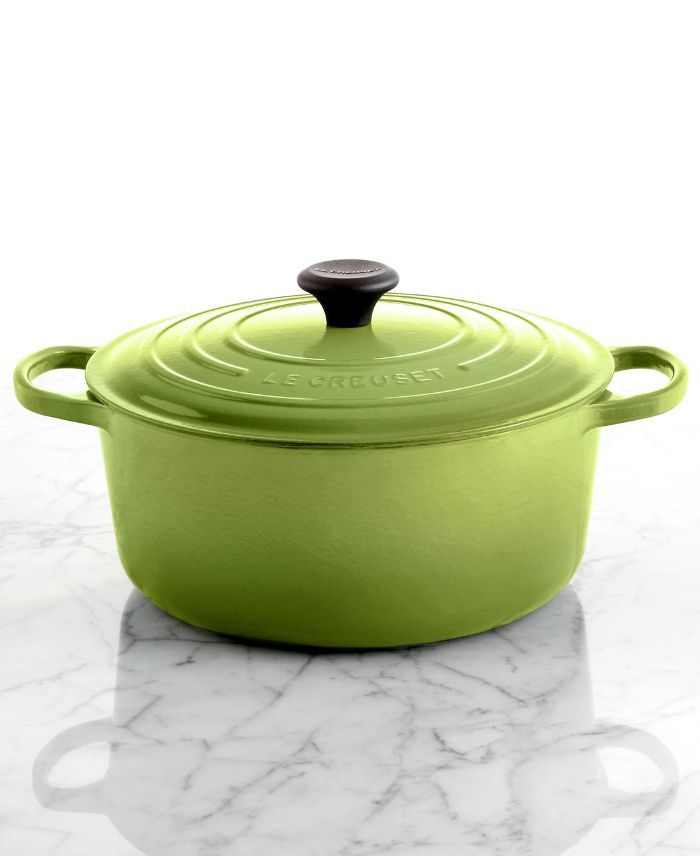 Signature Enameled Cast Iron 7.25 Qt. Round French Oven