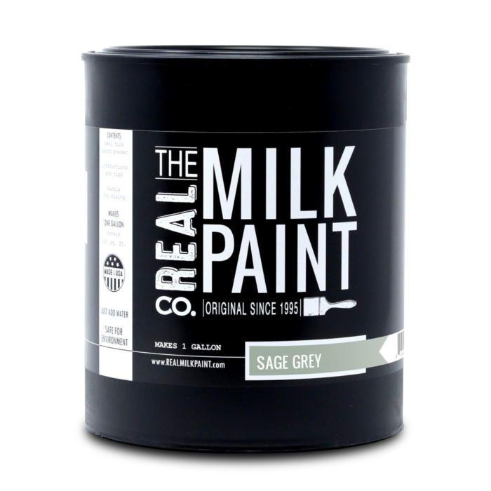 Sage Grey milk paint.
