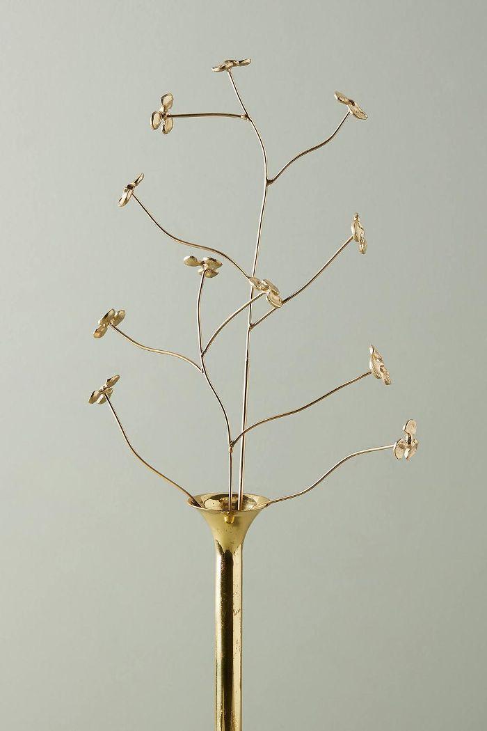 Brass Branch Decorative Objects, Set of 2
