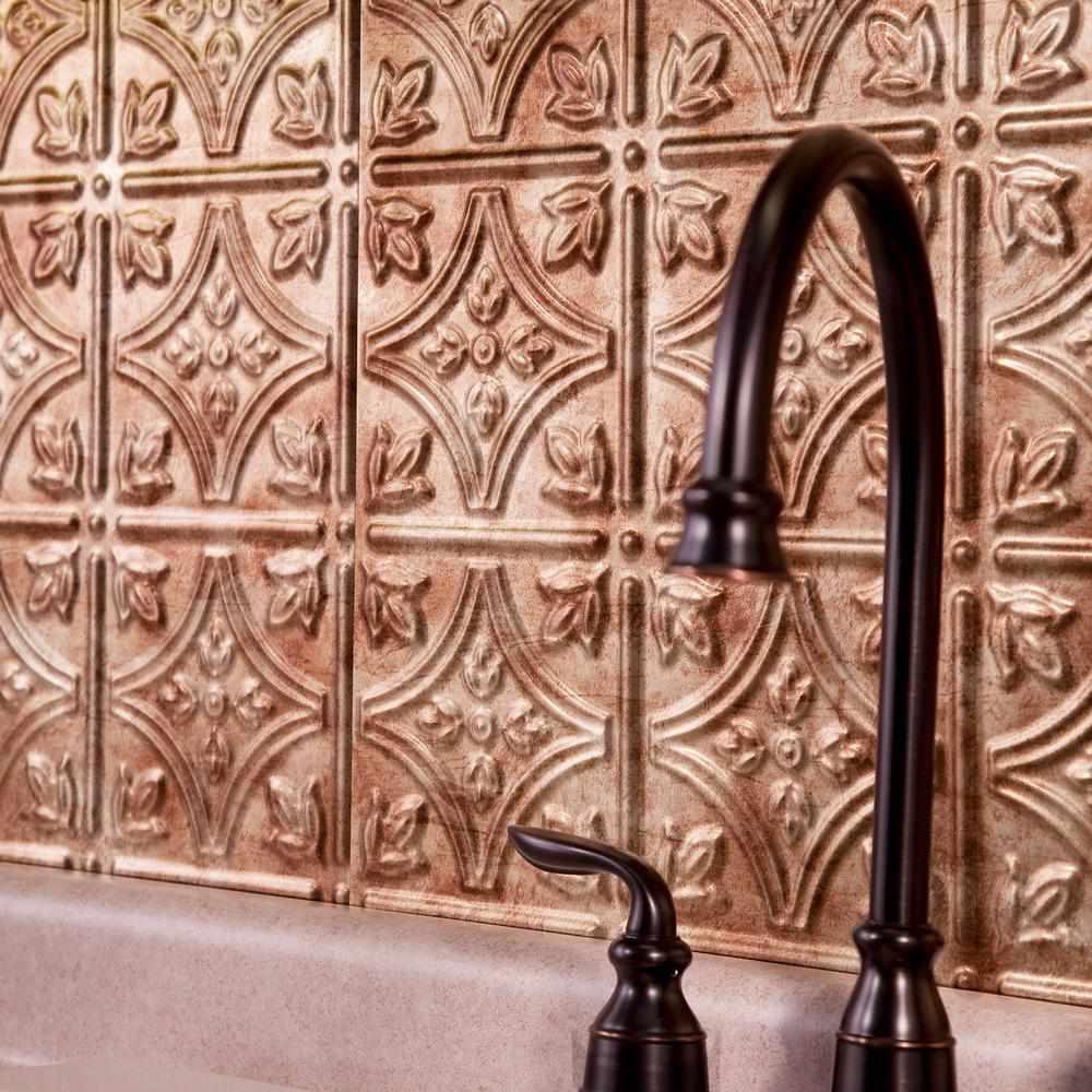 Fasade Bermuda Bronze Backsplash Panel - Home Depot