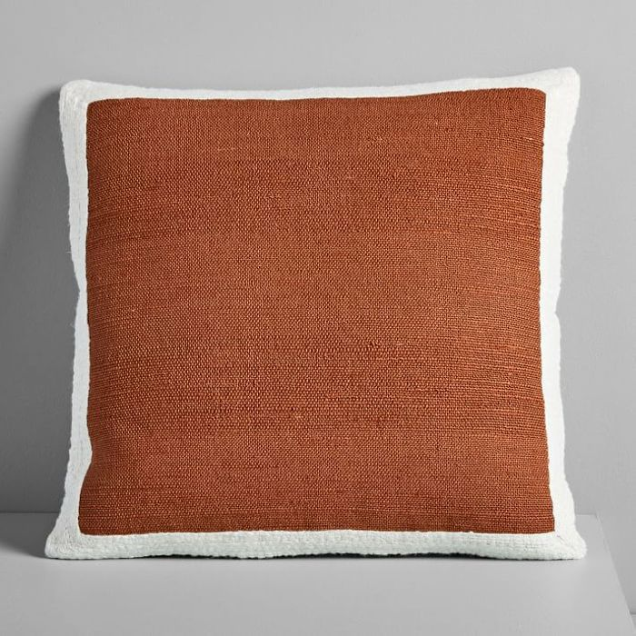 West Elm Textured Border Pillow Covers