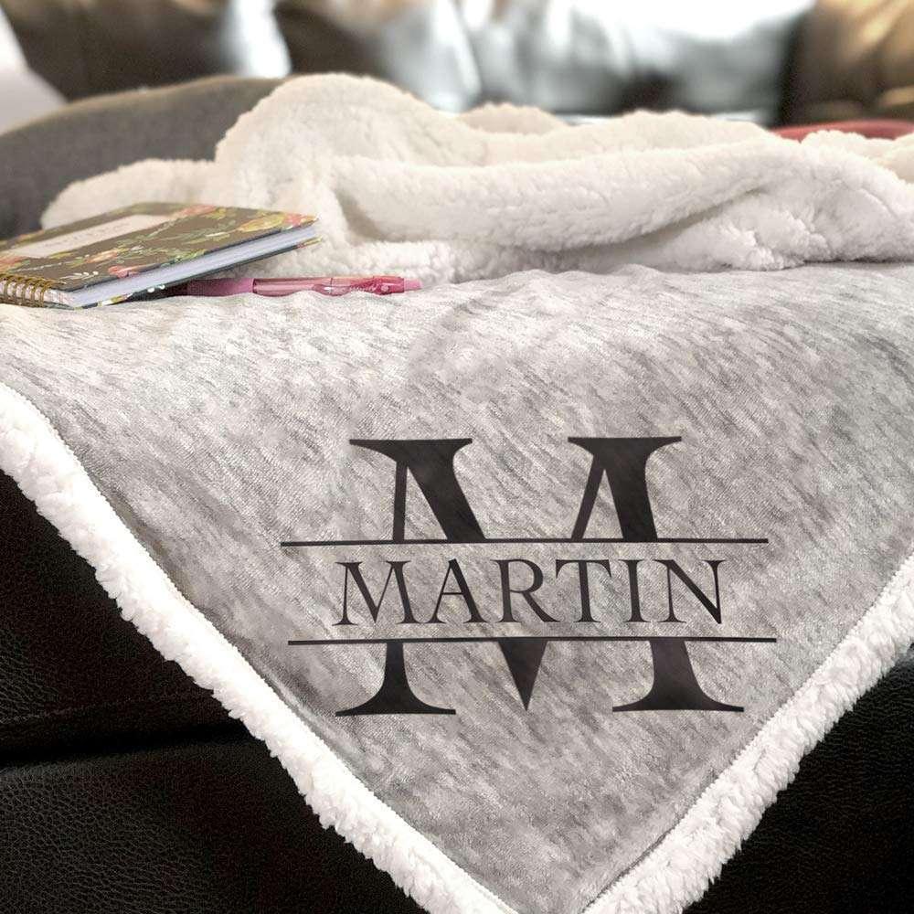 Jonely Gifts Monogrammed Blanket