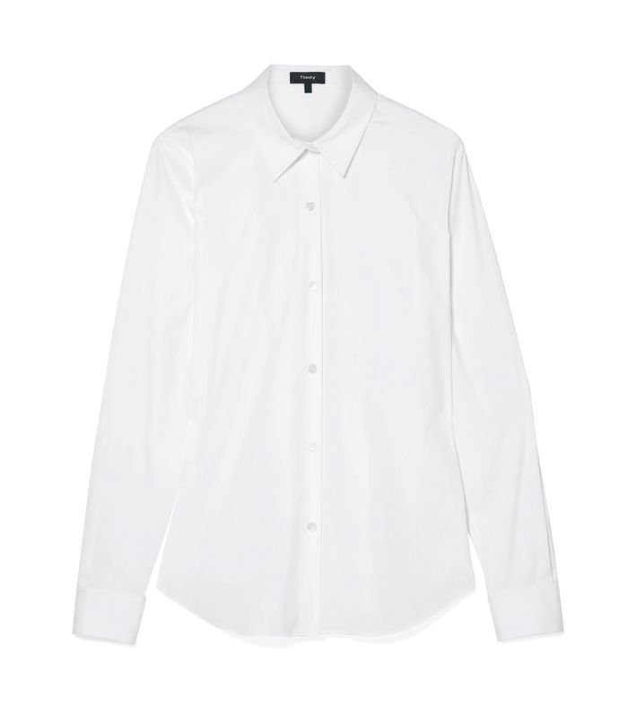 Tenia Stretch Cotton-blend Poplin Shirt