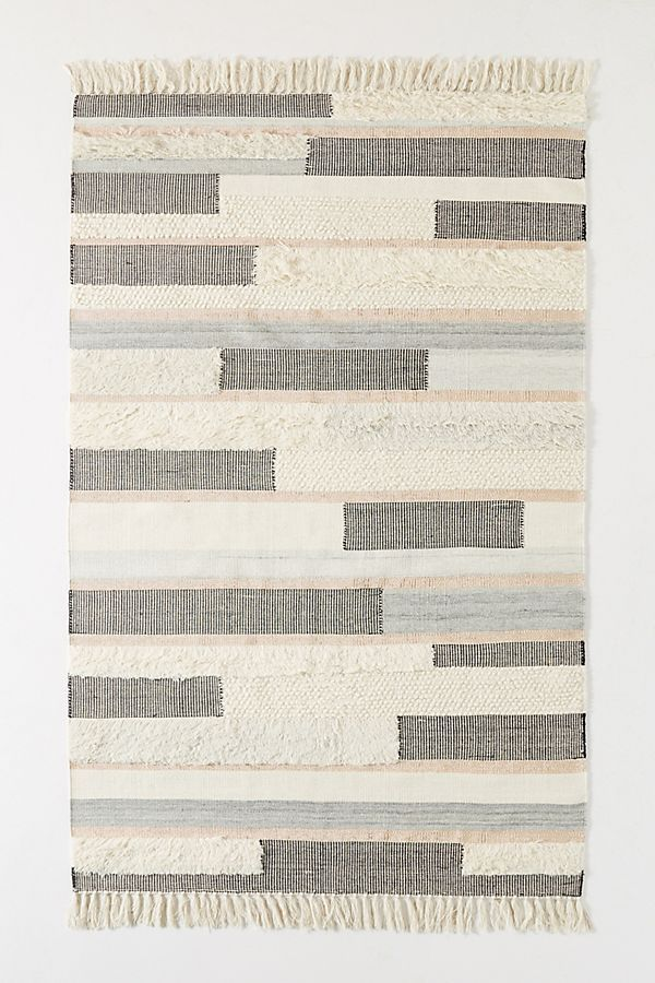 Anthropologie Woven Tacha Rug—Midcentury Modern Living Rooms