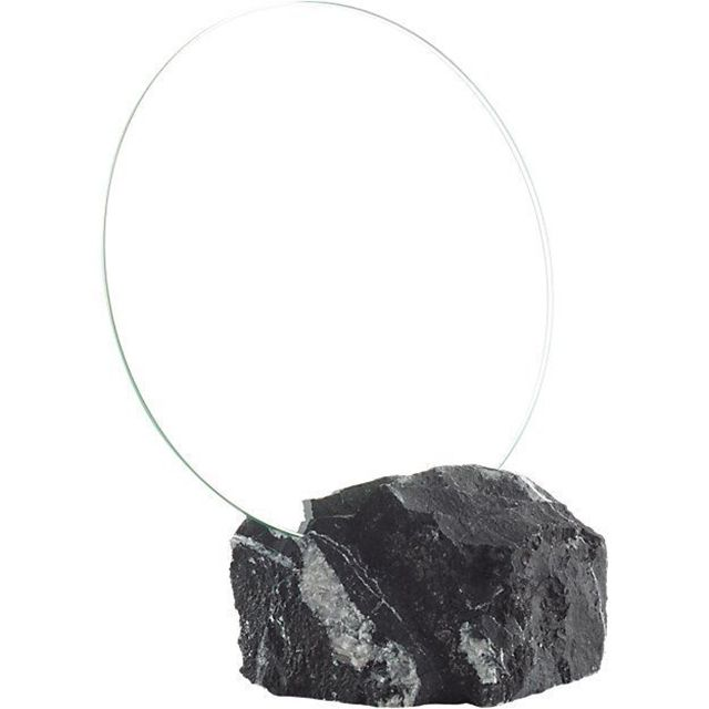 CB2 Black Marble Mirror