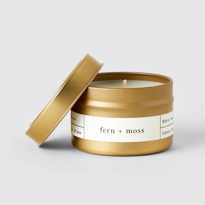 Brooklyn Candle Company fern + moss travel candle