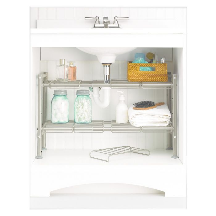88 Main Expandable Under Sink Storage Rack Champagne