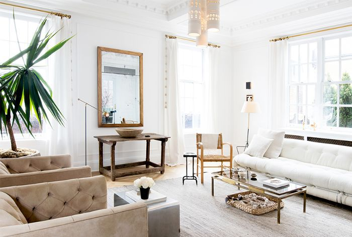 a neutral, bright living room